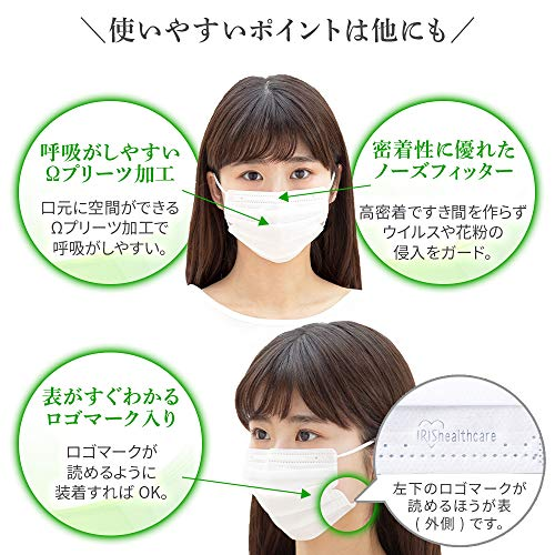アイリスオーヤマディスポーザブルプリーツ型マスクふつうサイズ30枚入20PN-30PM