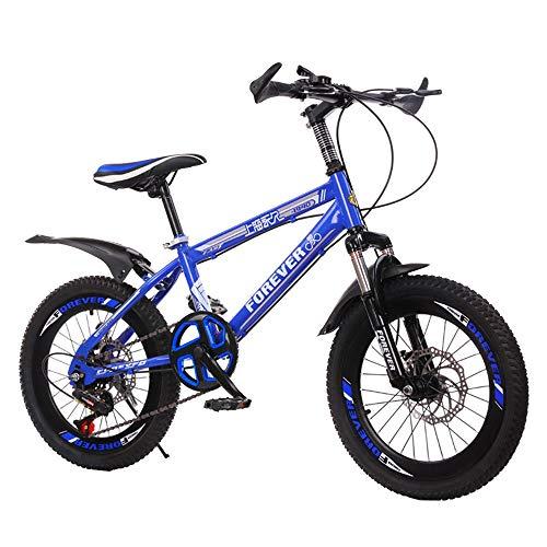 BAOMEI Bicicletas Bicicletas niños Bicicleta de los niños 18/20 Pulgadas niños y niñas Ciclismo, Apto for niños de 7-14 años de Edad, 4 Colores (Color : D, Size : 20in)