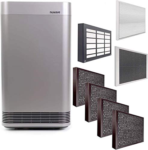 NuWave OXYPURE Large Area Smart Air Purifier; Capture and Eliminate Smoke, Dust, Pollen, Mold, Pet Dander, Allergens, Lead, Formaldehyde, Gases, VOCs & Germs