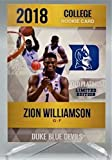 ZION WILLIAMSON College Rookie Basketball Card - 2018 Rookie Phenoms Limited Edition Gold Platinum - Only 2000 Produced!