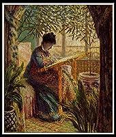 DIY 数字油絵 数字塗り絵 大人の子供のためのギフト デジタル油絵 数字キットでペイント 初心者と大人がキャンバスに番号でペイントすることを目的 - クロード・オスカー・モネ:カミーユ刺繡