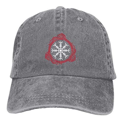 fingww Baseballmütze Viking Symbol Nordic Compass Snapback Cotton Cap