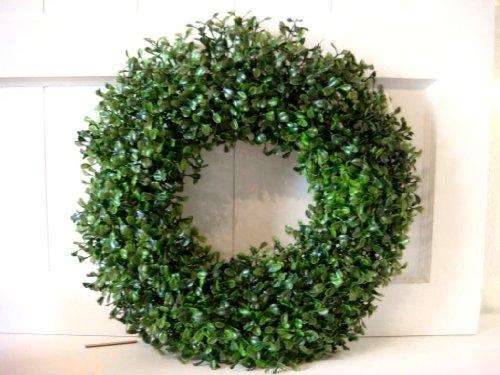HKT Home Deco Buchskranz Kunstpflanze Kranz Türkranz Buchs Deko Dekoration Weihnachtsdeko Blume Buchsbaum 40cm
