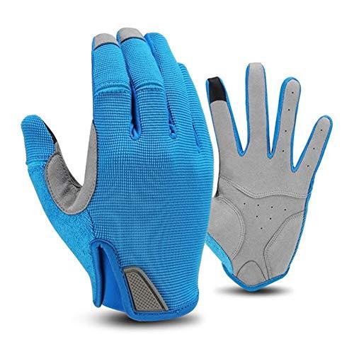 HUBi Winter einen.Kreislauf.durchmachenhandschuh, Unisex Winddichtes Verschleißfest Touch Screen warme Handschuhe, Geeignet for Ridling/Klettern/Skifahren (Color : Blue, Size : XXL)