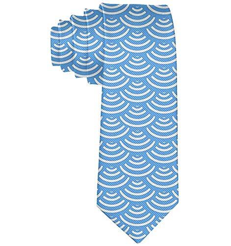 Disfraz formal japons Great Wave Mermaid Men Disfraz de corbata de polister Bowtie