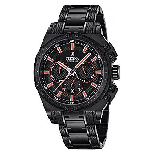 Festina Herren Chronograph Quarz Uhr mit Edelstahl beschichtet Armband F16969/4