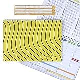 Campus Tiger Yellow - Planificador semanal 30 x 21 – Agenda planificador de mesa perpetua con espiral metálica