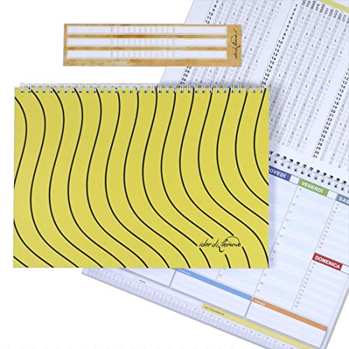 Campus Tiger yellow- Planner Semanal 30X 21–Agenda Planner de mesa fecha con Espiral Metálica