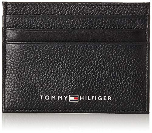 Tommy Hilfiger - Th Downtown Cc Holder, Tarjeteros Hombre, Negro (Black), 2x7.2x10.4 cm (B x H T)