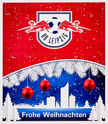 Riegelein Fußball Adventskalender RB Leipzig mit 25 Schokoladentalern + Gimmick, 1er Pack (1 x 200 g)