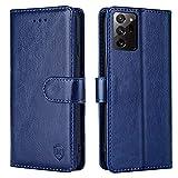 xinyunew Handyhülle für Samsung Galaxy Note 20 Ultra/5G Hülle,Samsung Note 20 Ultra Hülle, Handyhülle Samsung Note 20 Ultra Leder Flip Hülle Ständer PU Brieftasche Schutzhülle Cover (6,9 Zoll),Blau