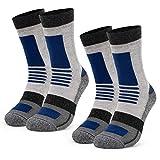 Occulto Calcetines Deportivos para Hombre (2 Pares), Calcetines de Senderismo Trekking para Hombres Anti AMPOLAS Transpirables 39-42 2 Pair   Blue-Black