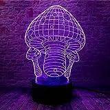 3D Lámpara De Ilusión Luz Nocturna Infantil Lámpara De Noche Seta 16 Colores Cambio Touch Con Cable Usb - Aplicación Bluetooth Control Cree Una Atmósfera Romántica