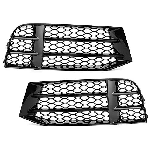 ZLQWSR Rejilla De Luz Antiniebla, Par De Rejillas De Malla De Panal Negras Brillantes para Audi Rs5 B 8.5 2013 2014 2015 2016