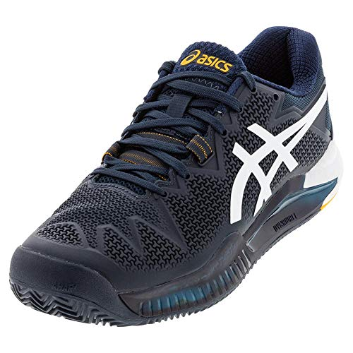 ASICS Men's Gel-Resolution 8 Clay Tennis Shoes, 7.5M, French Blue/White
