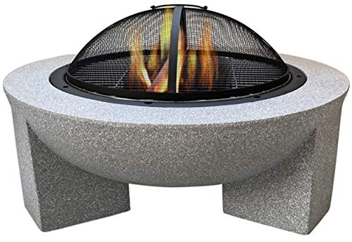 Auoeer Large Retro Fire Pit, gray Cast Iron Brazier Heater, Multifunctional Camping Bowl BBQ, For Indoor Outdoor Garden Patio Grill Wood Charcoal