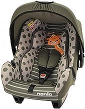 Mycarsit - Silla para bebé de coche, grupo 0+ (de 0 a 13 kg), diseño de jirafa