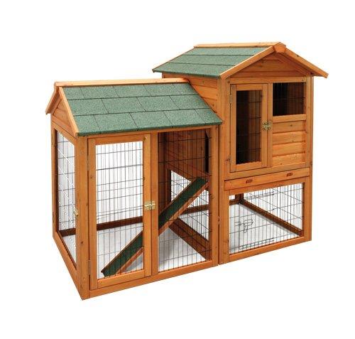Elmato 10365 Hühnerstall mit Freilauf mit 4 Hühner