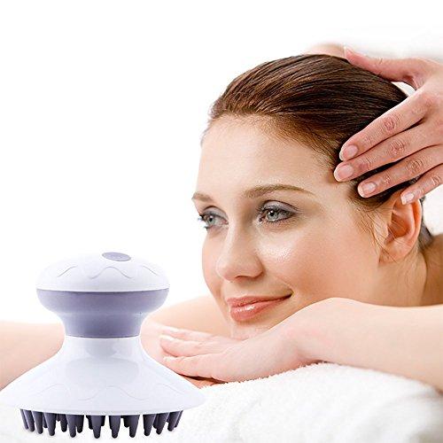 Head Massager Masajeador De Cuero Cabelludo, Eléctrico Versatile Handheld Champú Cuero Cabelludo Cepillo De Masaje para La Cintura Cuello Trasero Hombros Cuello Ducha Y Baño