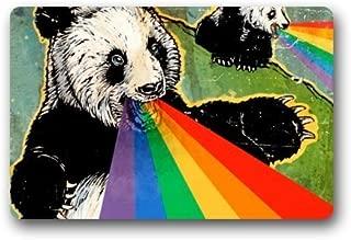 wwoman Love Girl - Alfombra Abstracta de Panda con diseño de Oso de arcoíris, Tela no Tejida para Interior/Exterior/baño, para el hogar, la Oficina o el Dormitorio, 40 cm x 60 cm