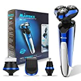 Electric Shaver, Men's Electric Razor 4-in-1 Wet & Dry Beard Trimmer Kit