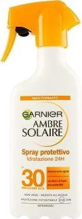 Garnier Ambre Solaire Crema Protezione Solare Idratante Latte Classico, Assorbimento Ottimo, Spray IP30, 300 ml, Confezion...