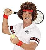 80er Jahre Tennisstar Perücke mit Stirnband