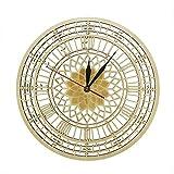 gjdm Relojes De Pared Big Ben De Londres En Madera Silencioso Cuarzo De Madera Rústica Reloj Decoración del Hogar Contemporánea Regalo De Londres Y Decoración para Lugares como Hoteles Homeschool