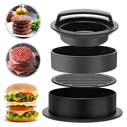 BoloShine 3 in 1 Burger Press Set, Professionale Pressa per Hamburger Normale Antiaderente Polpette Griglia Accessori da Cucina per Hamburger Mgnon BBQ Cucina