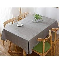 GX テーブルクロス- 現代ミニマリスト防水長方形家庭用ホテルのテーブルクロス、ソリッドカラーコーヒーレストランのテーブルクロス,新しい (色 : Gray, サイズ : 90*90cm)
