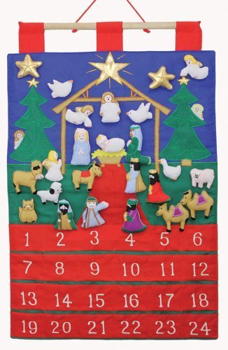 Tidings of Joy Fabric Advent Calendar (Countdown to Christmas) by Vermont Christmas Company