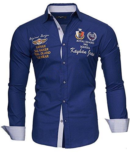Kayhan Hombre Camisa Monaco Navy L