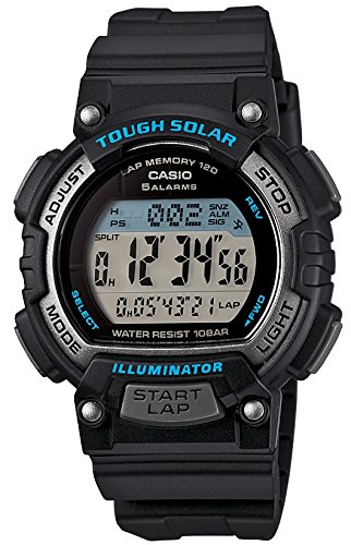 [カシオ] 腕時計 スポーツギア LAP MEMORY 120 ソーラー STL-S300H-1AJF ブラック