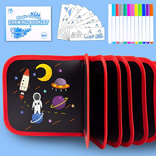 Erasable Drawing Pad Toys(Dinnosaur)-Best Children's Day Gift, Road Trip Car Travel Airplane Activities Game, Portable Writing Board for Kids Toddlers Boys Girls Gift Age 3 4 5 6 7 8 Year Old
