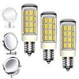 LED Bulbs 3 Pack Makeup Mirror Bulb Replacement for Cosmetic Vanity Makeup Mirror with Single Double Sided Lighted Magnification, Equivalent to 35W Incandescent Bulb 350LM AC120V(Daylight White 6000K)