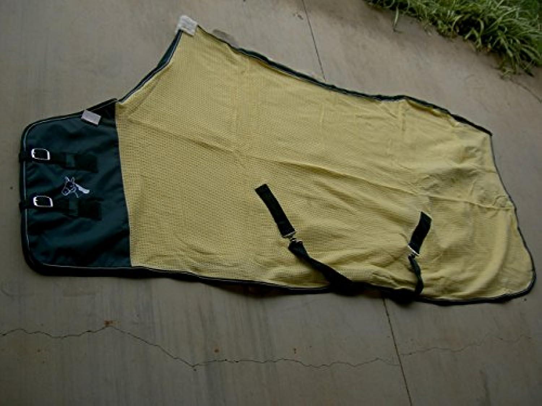 CHALLENGER Horse Cotton Sheet Blanket Rug Summer Spring Yellow Green 5319