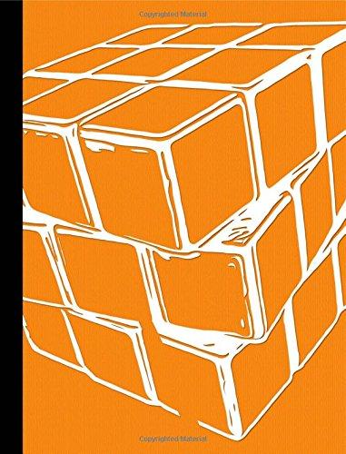 Orange Puzzle Cube Half Centimeter Graph Composition Book: 200 Pages, 0.5cm Square Graph Paper, School Exercise Book