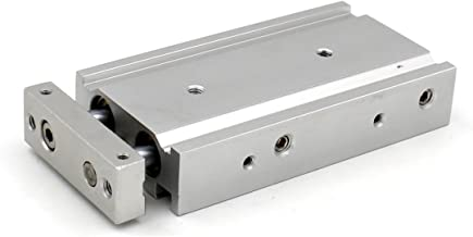 Baomain Compact Aluminum Air Cylinder CXSM 20-25 Guide Rod Plate Double Rod Guided Pneumatic Slide Bearing Cushioned