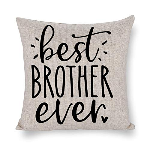 NoBrands Best Brother Ever Thanksgiving Halloween Christmas Throw Pillow Cover Pillowcase Cushion Cover Pillow Protector for Home Coffee Shop Sofa Couch, Bed, Chair.