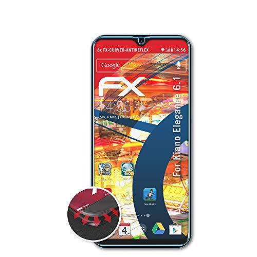 atFolix Schutzfolie kompatibel mit Kiano Elegance 6.1 Folie, entspiegelnde & Flexible FX Bildschirmschutzfolie (3X)