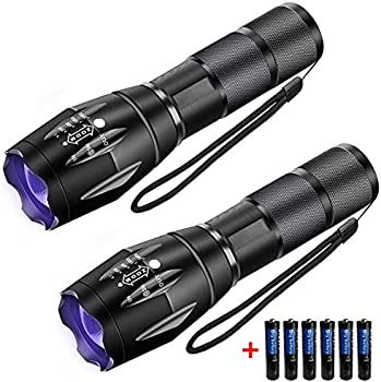 2-Pack USFA Black Light UV Flashlight