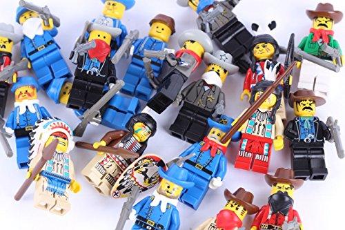 Steinchenwelt LEGO® Figuren Konvolut Wild West 5er Pack Nordstaatler Indianer Banditen und Cowboys