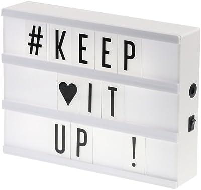 Caja de Luz A4, AGM Lightbox LED Cartel Luminoso Letras Cinematográfico Luz Cálida con Letras y Emojis, Números, Símbolos y Cable USB para Decoración Habitación: Amazon.es: Iluminación