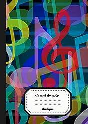 Carnet de Note Musique: Carnet de Partition/ Carnet pour Musicien en Herbe | Grandes Portées | 100 pages Format A4 (French Edition)