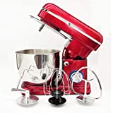 KEKE Food Stand Mixer Dough Blender, Electric Hand Mixer Stand Mixer 5 Lstainless Steel Mixing Bowl Kitchen Electric Mixer with Dough Hook, Wire Whip & Beater 1500W