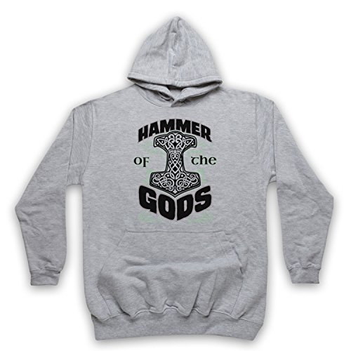 Hammer Of The Gods Thor Sweat a Capuche des Adultes, Gris, 2XL