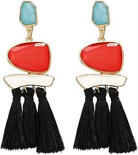doublelovely Women Boho Drop Dangler Fringe Earrings Vintage Ethnic Statement Tassel Earrings Jewelry