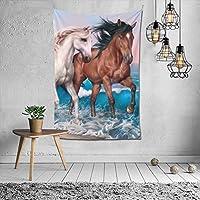 馬 タペストリー 毛布 壁掛け 多機能 ファブリック 掛け物 壁吊 ー壁掛けタペストリ家庭装飾的な壁のタペストリーは 部屋の壁の装飾