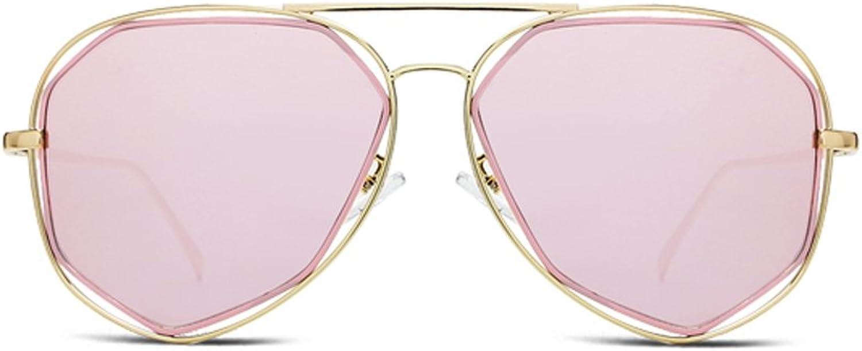 YUBINtaiyangjing Korean Version Pink Drive Polarized Light Sunglasses Female Star Models Tide Male Sunglasses Net Red Glasses (color   B)