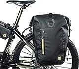 Rhinowalk bolsa de la bici Pannier bolsa,25L gran capacidad bicicleta bolsa de la bici de montaña impermeable ligera bolsa de bicicletas, 1000D poliéster, anti-arañazos,color negro